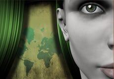 Étape globale illustration stock