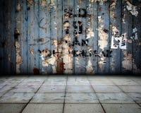 Étape grunge d'intérieur de fond en métal Image libre de droits