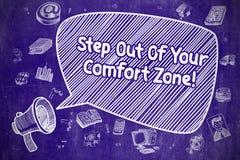 Étape hors de votre zone de confort - concept d'affaires Photos libres de droits
