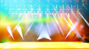 Étape lumineuse de concert Image stock