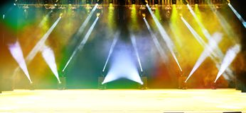 Étape lumineuse de concert Photos libres de droits