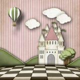 Étape lunatique de château Images libres de droits