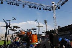 Étape musicale de concert Images libres de droits