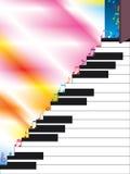 Étape ouverte de musique d'échelle de piano Photographie stock