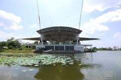 Étape publique au lac Cyberjaya Images stock