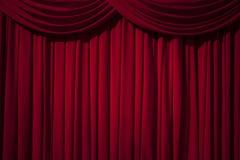 Étape rouge de rideau photo libre de droits