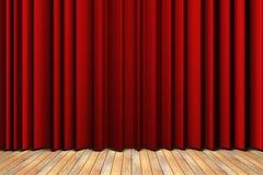 Étape rouge de rideau Images libres de droits