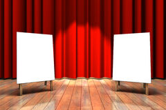 Étape rouge de rideau Photos libres de droits
