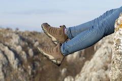 Étape sur des roches Image libre de droits