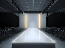 Étape vide de podium de piste de mode illustration stock