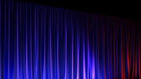 Étape vide foncée avec les rideaux bleus riches en velours 3d rendent illustration stock
