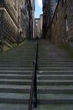 Étapes à Edimbourg Photos libres de droits