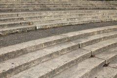 Étapes à gradins concrètes superficielles par les agents à Portland, Orégon Photo libre de droits