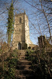 Étapes à l'église paroissiale de St Oswald Photographie stock