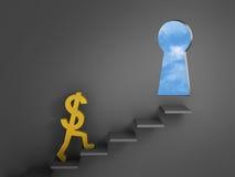 Étapes à la liberté financière illustration libre de droits