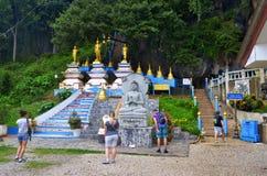 1237 étapes à Wat Tham Sua dans Krabi Images libres de droits