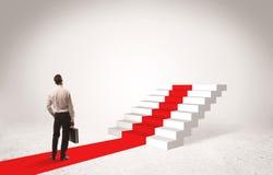 Étapes au concept de succès avec l'homme d'affaires Images stock