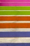 Étapes colorées Photographie stock