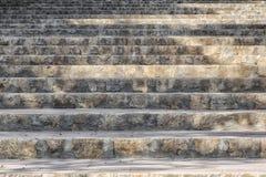 Étapes d'escalier de pierre Photos stock