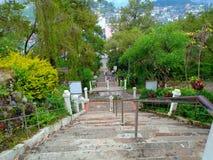 Étapes d'escaliers de baguio de paysage images libres de droits