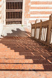 Étapes dans le della Ragione de Palazzo dans la ville de Vérone Photo libre de droits