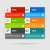 Étapes de bannière d'options d'Infographics réglées Photo libre de droits