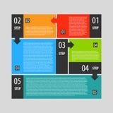 Étapes de bannière d'options d'Infographics réglées Photos libres de droits