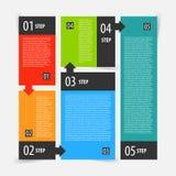 Étapes de bannière d'options d'Infographics réglées Photos stock