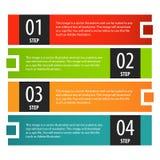 Étapes de bannière d'options d'Infographics réglées illustration stock