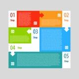 Étapes de bannière d'options d'Infographics réglées Photo stock