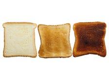 Étapes de pain grillé Photographie stock libre de droits