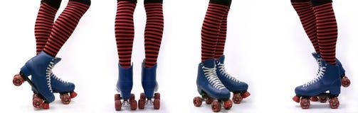 Étapes de patins de rouleau Images libres de droits