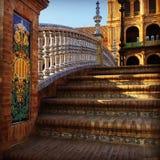 Étapes de Plaza de España photos libres de droits