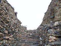 Étapes de roche d'Acient pour l'entrée de ville Photos libres de droits