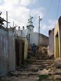 Étapes en pierre de navigation dans Harar Jugol, Ethiopie photographie stock
