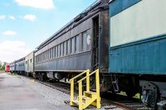 Étapes jaunes à vieille Georgia Railroad Photographie stock