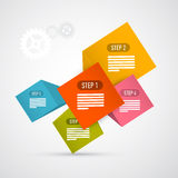 Étapes pour le cours, Infographics Photo stock