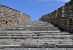 Étapes sur la Grande Muraille Photos libres de droits