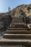 Étapes vers le phare de Grosse Terre Photographie stock