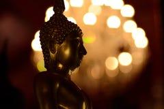 État buddish d'or dans le style d'art Photographie stock libre de droits