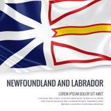 État canadien Terre-Neuve et drapeau de Labrador Photographie stock libre de droits
