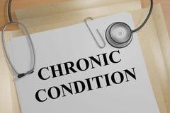 État chronique - concept médical Photographie stock