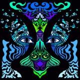 État d'esprit Image colorée de vecteur dans le style d'art abstrait Photo libre de droits