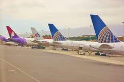État d'Hawaï d'aéroport de kahului de Maui Photographie stock libre de droits