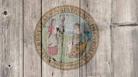État d'USA Carolina Seal Wooden Fence du nord illustration de vecteur