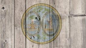 État d'USA Carolina Seal Wooden Fence du sud illustration libre de droits
