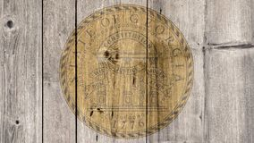 État d'USA Georgia Seal Wooden Fence images stock