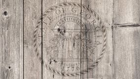 État d'USA Georgia Seal Wooden Fence image stock