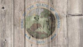État d'USA Indiana Seal Wooden Fence illustration de vecteur