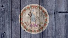État d'USA Virginia Flag Wooden Fence image stock